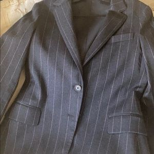 Theory woman's pinstriped suit